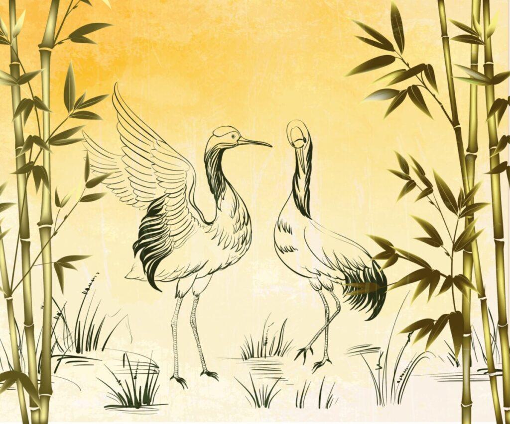 Интерьерная дверная панель Fauna Asiatica