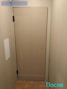 отделка двери на Бабушкина