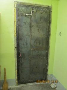 дверь до отделки